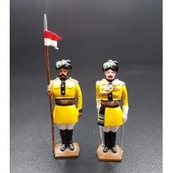 Officier et lancier du 1er régiment de lanciers du Bengale, 1901