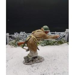 """Soldat d'infanterie Américain, """"par là"""", Ardennes-Bastogne, hiver 1944-1945"""