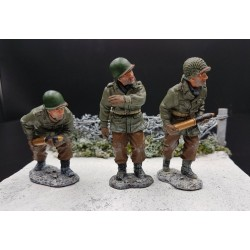 3 artilleurs Américains, Ardennes-Bastogne, hiver 1944-45