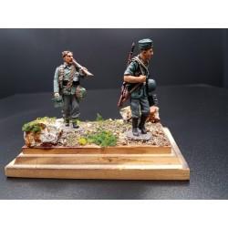 Diorama, 2 soldats d'infanterie Allemands en progression, WW2
