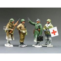 """""""NUTS ! """" Brigadier-général McAuliffe's et plénipotentiaire Allemand, Bastogne 1944"""