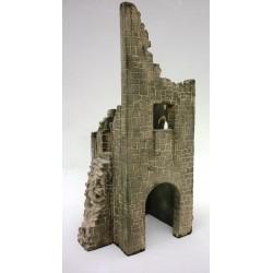 Tour en ruine d'un chateau médiéval, en kit à assembler et peindre