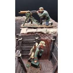 Equipe de tir Allemande à la mitrailleuse Maxim 08, Cambrai 1917