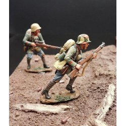 2 soldats d'infanterie Allemands des troupes d'assaut, Cambrai 1917