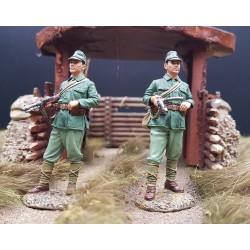 2 soldats d'infanterie de marine Japonais, PACIFIQUE 1938-1945 avec PM NAMBU