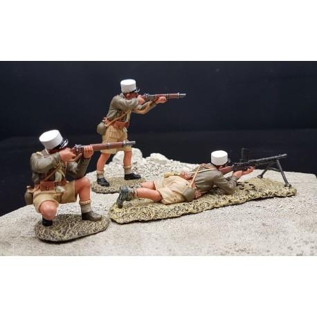 3 légionnaires au combat, légion étrangère Française, Afrique du nord, 1942