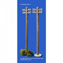 Décors-dioramas, un poteau télégraphique