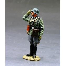 Officier d'infanterie Allemand saluant, division Grossdeutschland 1939-1945