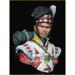 Buste d'un fusilier du 92e régiment d'infanterie des Gordon Highlanders
