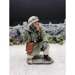 Officier des panzergrenadiers Allemands, Ardennes-Bastogne, hiver 1944-1945