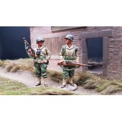 2 soldats d'infanterie Américains, 3e division d'infanterie US, 1942-1945