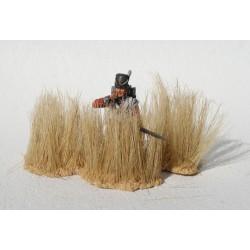 Décors-dioramas, 10 grosses touffes d'herbes hautes desséchées désert