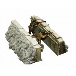 Décors-dioramas, partie de tranchée en hiver, WW1-WW2