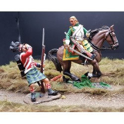Dragon Français ayant blessé un Gordon Highlander, 1804-1815