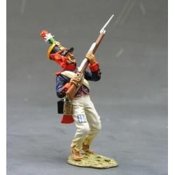 Fusilier d'infanterie Mexicain blessé, assaut de Fort ALAMO TEXAS 1836