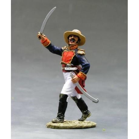 Officier d'infanterie Mexicain à l'assaut de Fort ALAMO TEXAS 1836