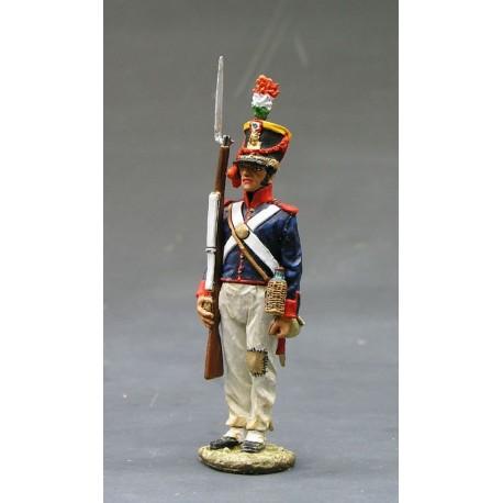 Fusilier d'infanterie Mexicain, Fort ALAMO TEXAS 1836
