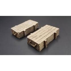 Décor pour diorama, 2 caisses d'armement, pour figurines 54-60mm 1/32