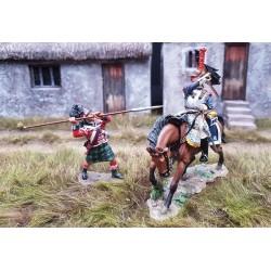 Cuirassier Français sabrant un sergent des Gordon Highlanders, 1804-1815