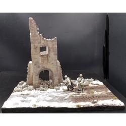Diorama, Tour d'un chateau médiéval, Ardfennes hiver 1944-1945