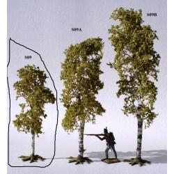 Décors-dioramas, arbre bouleau, petite taille, en été