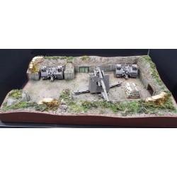 """Diorama """"emplacement de tir Allemand FLAK 88mm, Normandie été 1944"""