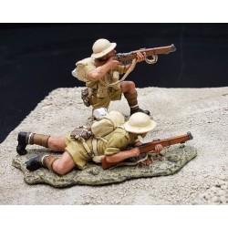 2 soldats d'infanterie Britanniques au combat, 8e Armée, Afrique du nord,