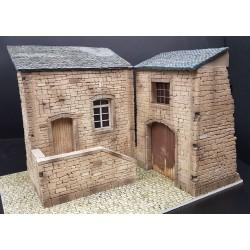 Décor-diorama, ferme du Cotentin Normandie été 1944