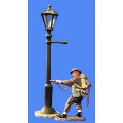 Décors-dioramas, un lampadaire de ville à gaz