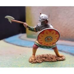 Soldat d'infanterie Sarazin, période des croisades, Moyen-âge