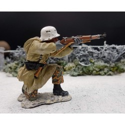 Panzergrenadier Allemand, au combat, Ardennes-Bastogne, 1944-1945
