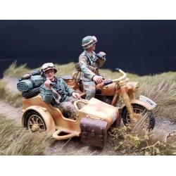 2 motocyclistes Allemands, reconnaissance Panzerdivision, Normandie 1944