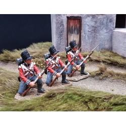 Sergent et 4 fusiliers Britanniques du 2e FOOT GUARDS, 1804-1815