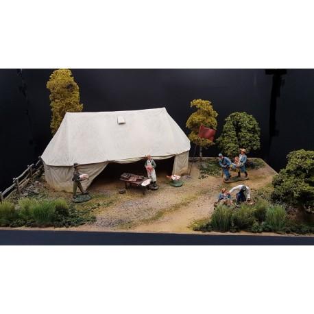 """Diorama """"poste de secours avancé"""", troupes confédéres, guerre de sécession 1861-1865"""