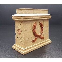 Décor-diorama, grand socle pour statue équestre, 1er empire Français
