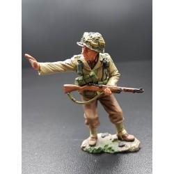 Soldat d'infanterie Américain, Normandie 1944, faisant signe