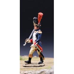 Officier des grenadiers à pied, garde impériale Française, au défilé