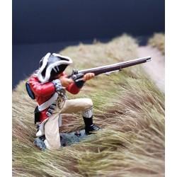 """Fusilier d'infanterie Britannique, """"red coats"""", tirant, USA 1776"""