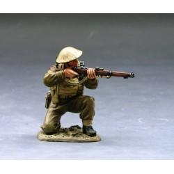 Soldat d'infanterie Britannique au combat, bataille de France, 1940