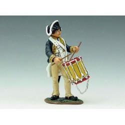 Jeune tambour d'infanterie Américain, guerre d'indépendance, 1776