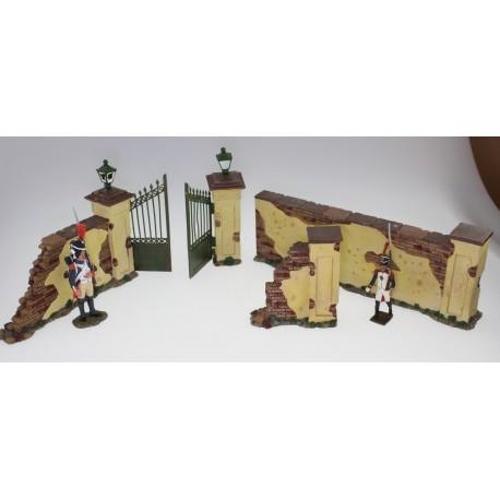 Diorama, décor mur et grille
