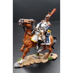 Cuirassier Français du 7e régiment, à la charge, tirant au pistolet