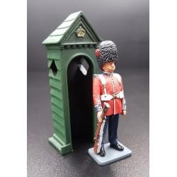 Royal foot guard Britannique, à la garde avec guérite