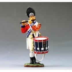 Tambour-fifre d'infanterie Britannique, USA 1776, en marche