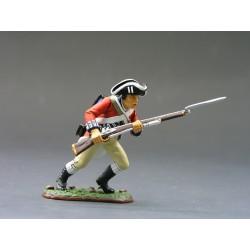 """Fusilier d'infanterie Britannique, """"read coats"""", 1776, à la charge"""