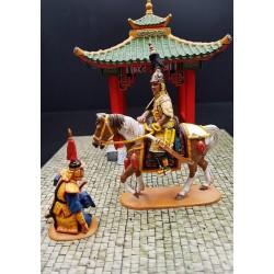 L'empereur Chinois KIEN-LONG et un officier de sa garde, Chine impériale
