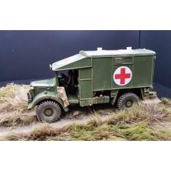 Ambulance militaire Britannique AUSTIN K2, 3e division d'infanterie 1940-1945