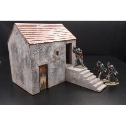 Décor-diorama, dépendance de ferme, pour figurines 54-60mm
