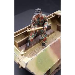 Artilleur Allemand, canon automoteur, panzerdivision, 1944-1945