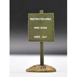 Décor pour diorama, panneau informatif WW1 - WW2 pour figurines 54-60mm